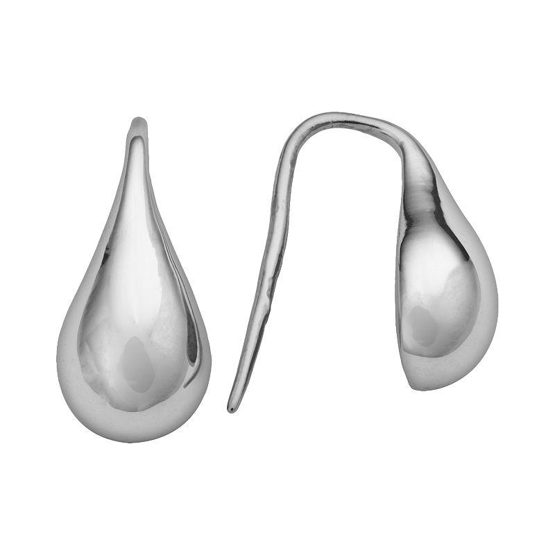 Steel City Stainless Steel Teardrop Earrings