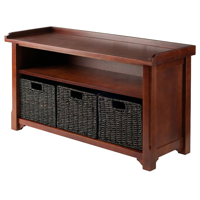 Winsome Granville 2-Tier Storage Bench, Brown