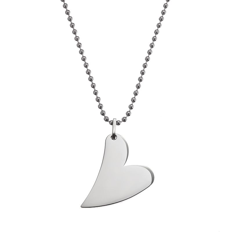 Steel City Stainless Steel Heart Pendant