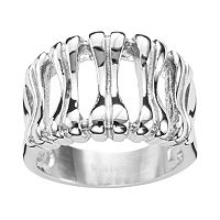 Steel City Stainless Steel Textured Ring