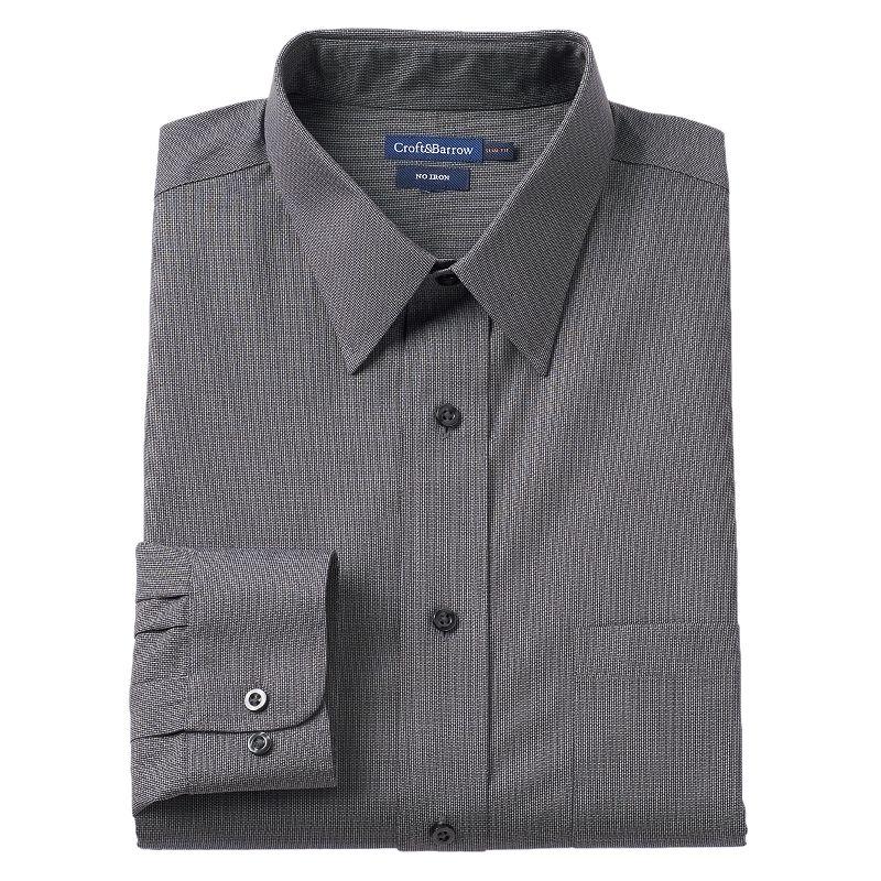 Men's Croft & Barrow Classic-Fit Checkered No-Iron Dress Shirt