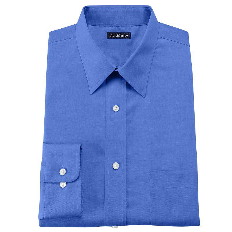 Croft barrow classic fit no iron dress shirt men for No iron shirts mens