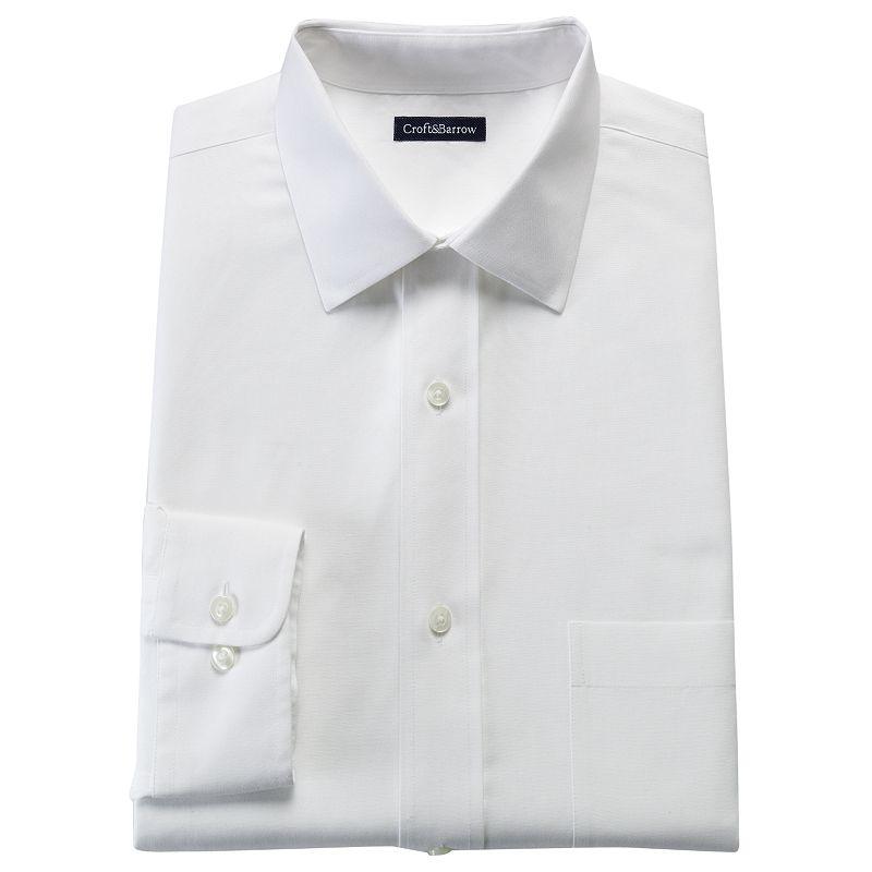 Men's Croft & Barrow® Slim-Fit No-Iron Spread-Collar Dress Shirt