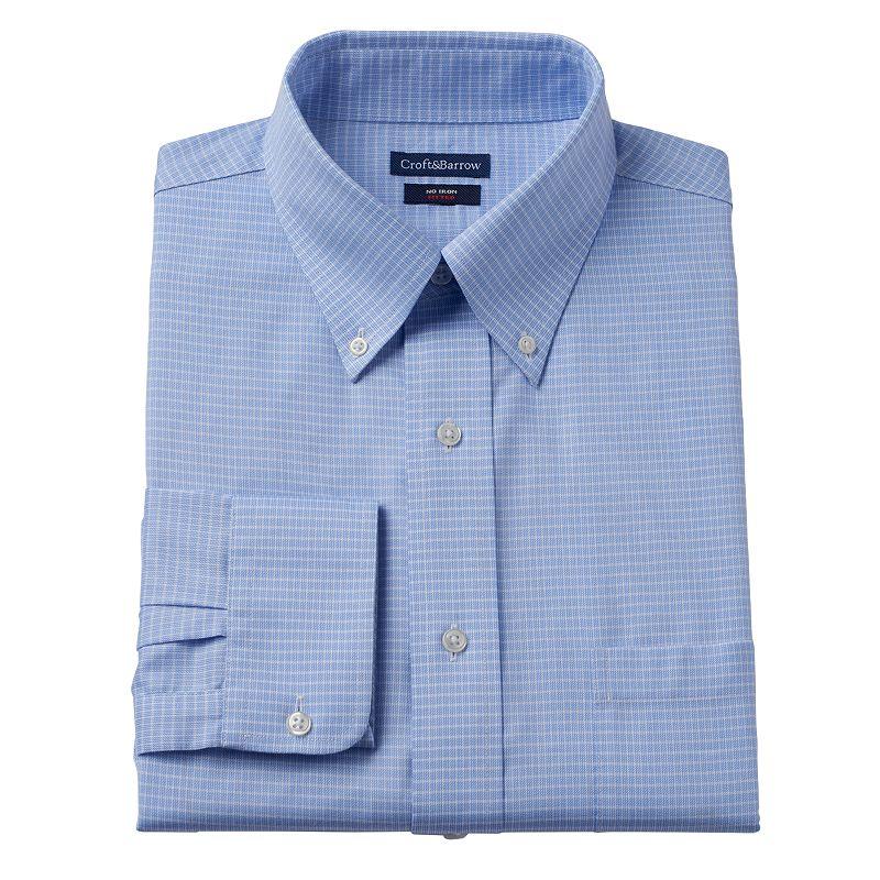 Men's Croft & Barrow Fitted Checkered No-Iron Dress Shirt