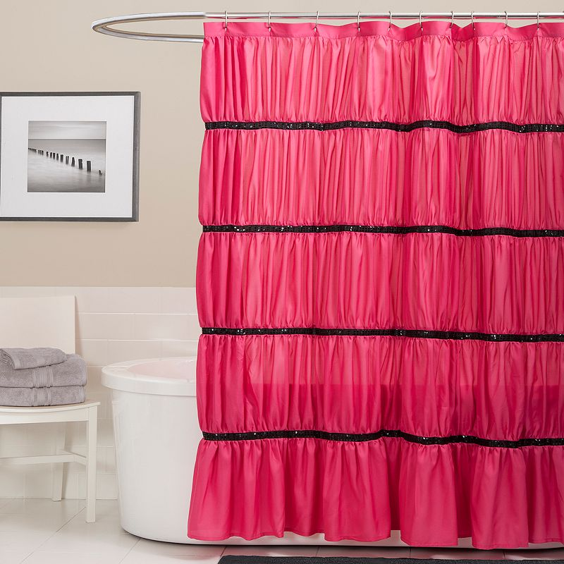 Lush Decor Twinkle Fabric Shower Curtain