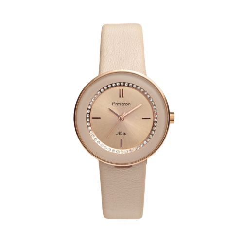 Armitron NOW Crystal Leather Watch - Made with Swarovski Elements - Women
