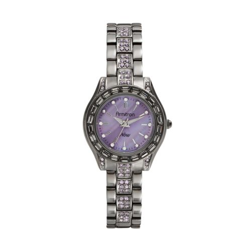 Armitron Crystal and Mother-of-Pearl Watch - Made with Swarovski Elements - Women