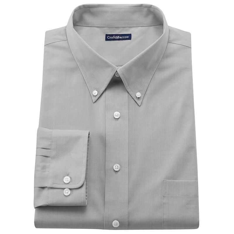 Men's Croft & Barrow® Slim-Fit Solid Easy-Care Button-Down Collar Dress Shirt