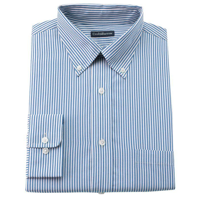 Men's Croft & Barrow® Striped Slim-Fit Button-Down Dress Shirt