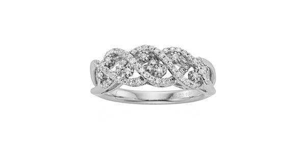 Simply Vera Vera Wang Sterling Silver 3/8-ct. T.W. Diamond
