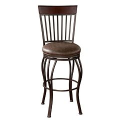 American Heritage Billiards Torrance Swivel Bar Stool by