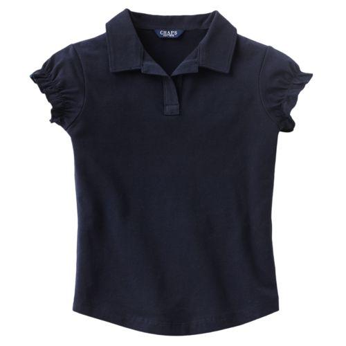 Chaps Stretch Jersey School Uniform Polo - Girls 4-6x