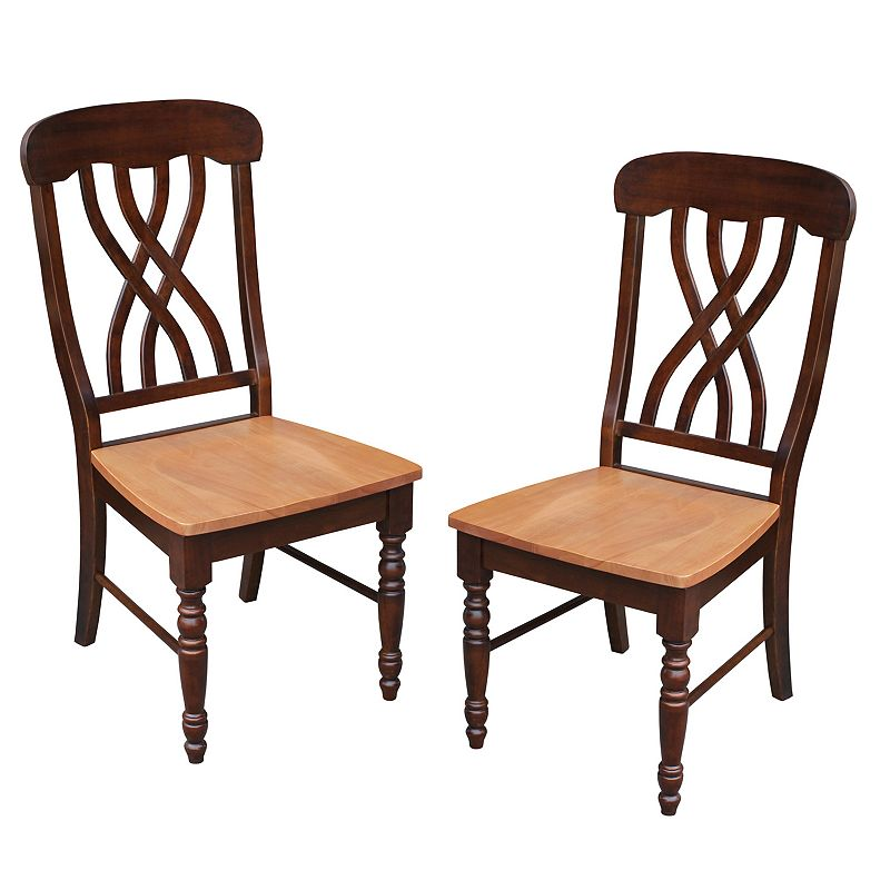 Lattice-Back Chair 2-piece Set