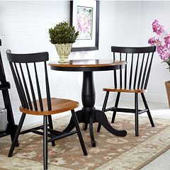 3-pc. Round Dining Table & Chair Set by