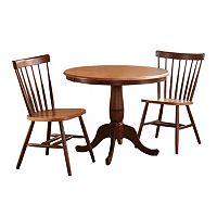 Round Pedestal Dining Table & Chair 3-piece Set