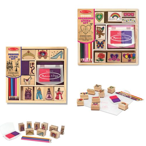 Melissa and Doug Princess and Friendship Stamp Set Bundle