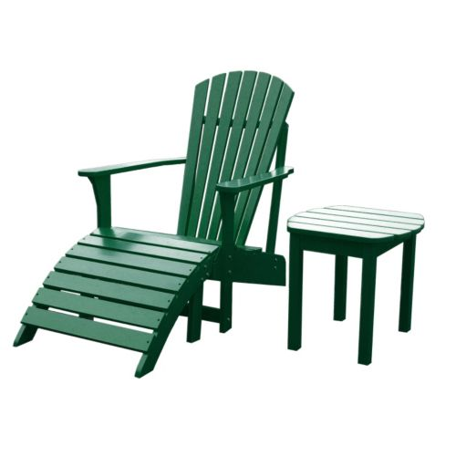 3-pc. Adirondack Lounge Chair, Footrest and Table