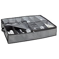 Kennedy Home Collection 12-Pair Under-Bed Shoe Storage Box