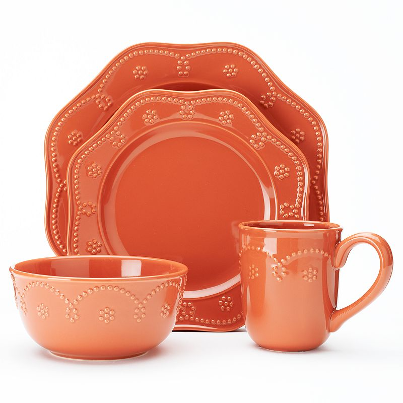 Food Network™ Fontinella Beaded 4-pc. Place Setting