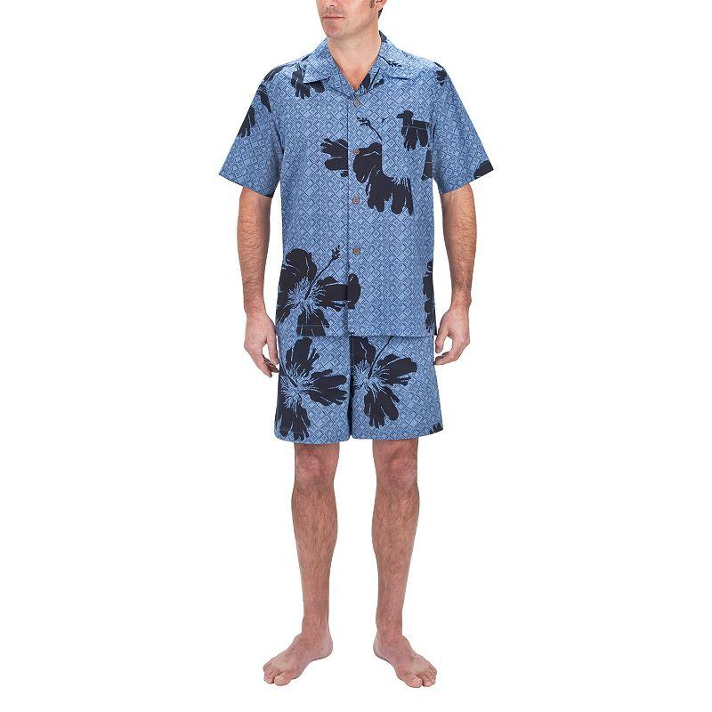 Men's Residence Floral Camp Shirt and Swim Trunks Set