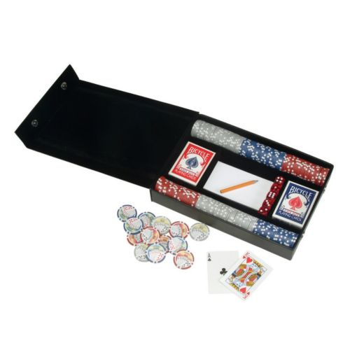 Royce Leather Deluxe Poker Game Set