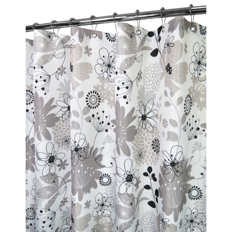 Watershed by Park B. Smith Bloomin' Fabric Shower Curtain