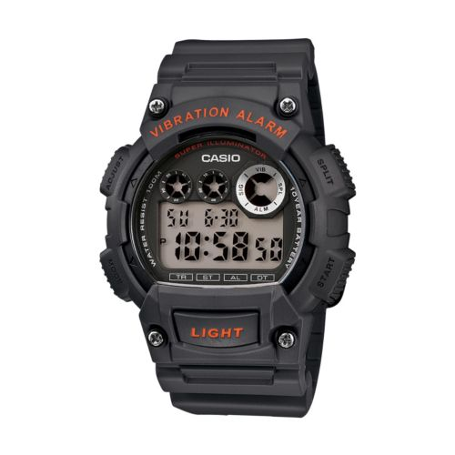 Casio Black Resin Digital Chronograph Watch - Men