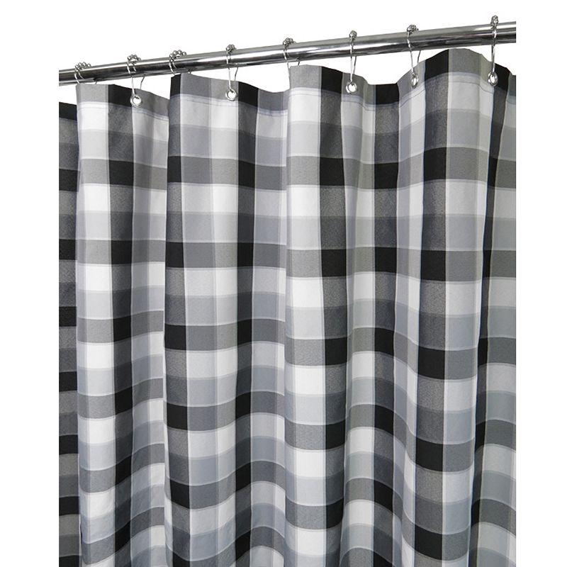 Watershed by Park B. Smith Dorset Plaid Fabric Shower Curtain