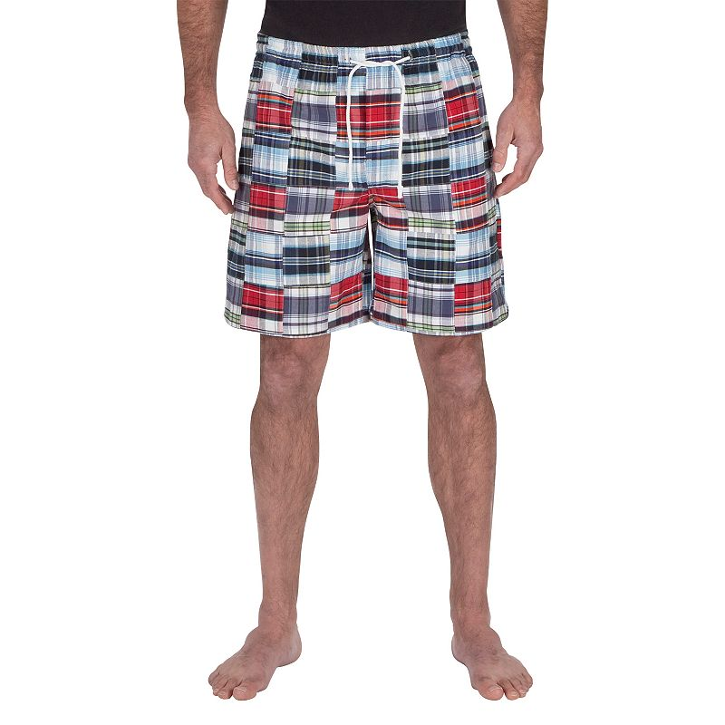 Big & Tall Residence Madras Plaid Lounge Shorts