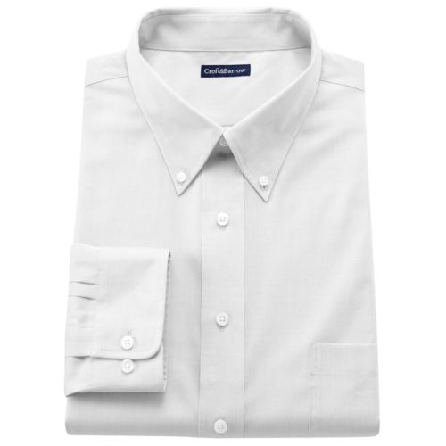 Croft & Barrow® Solid Easy-Care Button-Down Collar Dress Shirt - Big and Tall