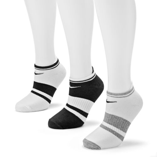 Nike 3-pk. Striped Lightweight Low-Cut Tab Socks