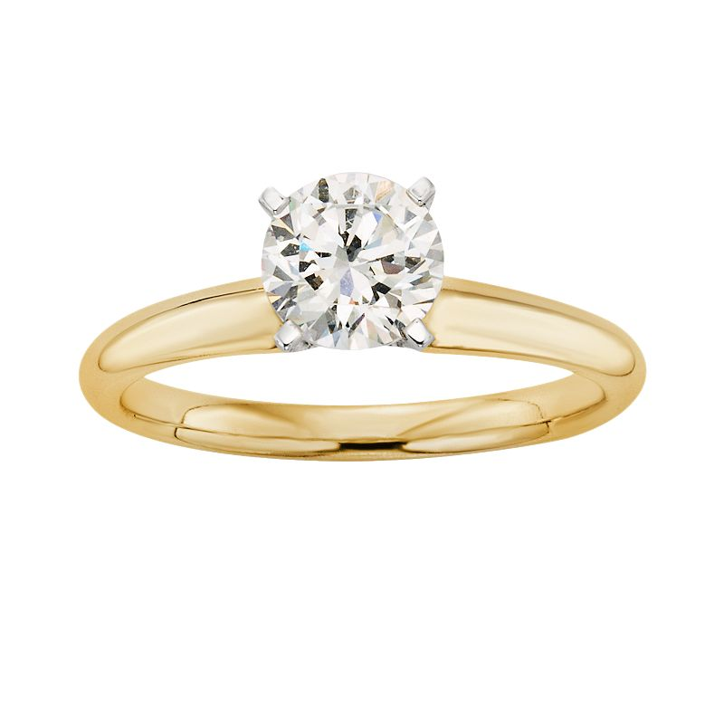 IGL Certified Colorless Diamond Solitaire Engagement Ring in 18k Gold (1 ct. T.W.)