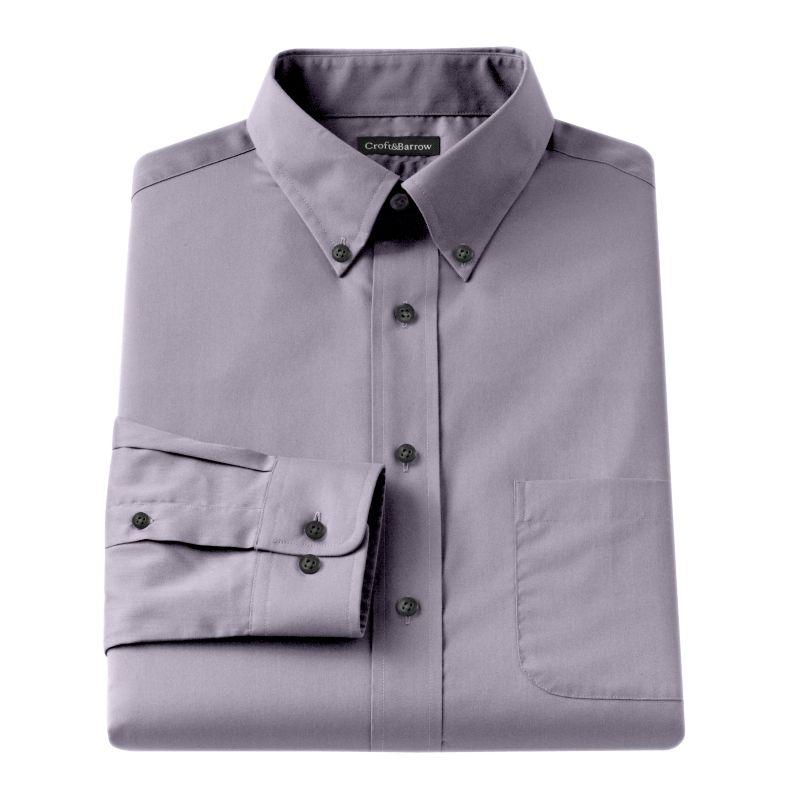 Big U0026 Tall Croft U0026 Barrowu00ae Solid Broadcloth Button-Down Collar Dress Shirt Menu0026#39;s Size 20 34 ...
