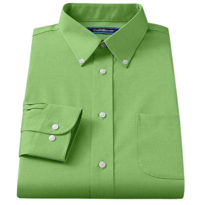 Big & Tall Croft & Barrow® Broadcloth Button-Down Collar Dress Shirt