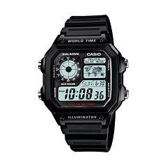 Casio Men's World Time Digital Chronograph Watch AE1200WH-1AV
