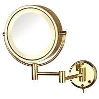 Jerdon Adjustable 8 1/2-in. Lighted Wall Mirror