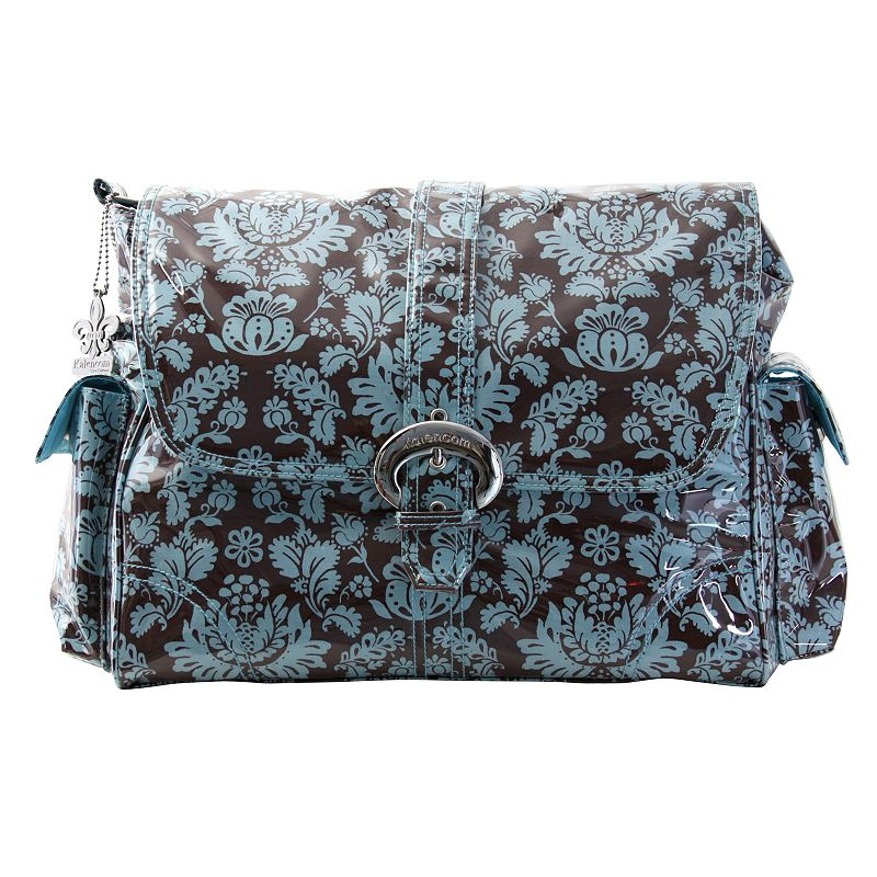 Kalencom Toile Laminated Buckle Diaper Bag - Blue and Brown