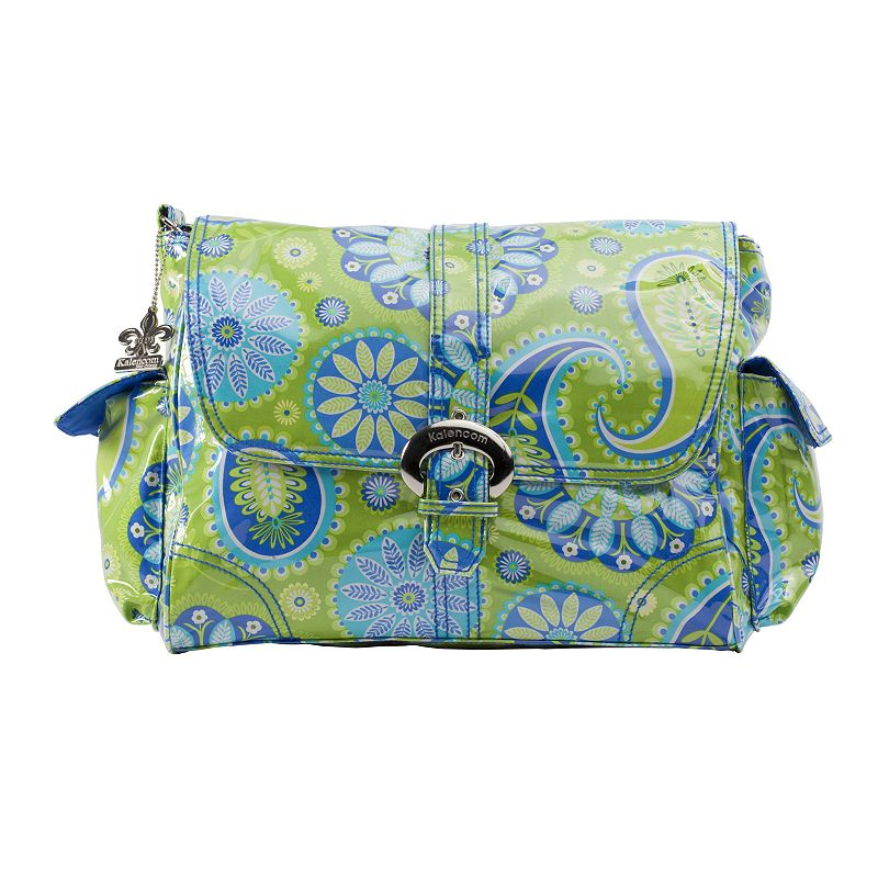 Kalencom Paisley Laminated Buckle Diaper Bag - Green