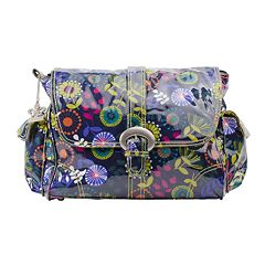 Kalencom Dandelion Laminated Buckle Diaper Bag Grape