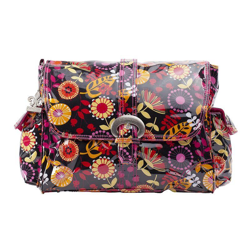Kalencom Dandelion Laminated Buckle Diaper Bag - Berries