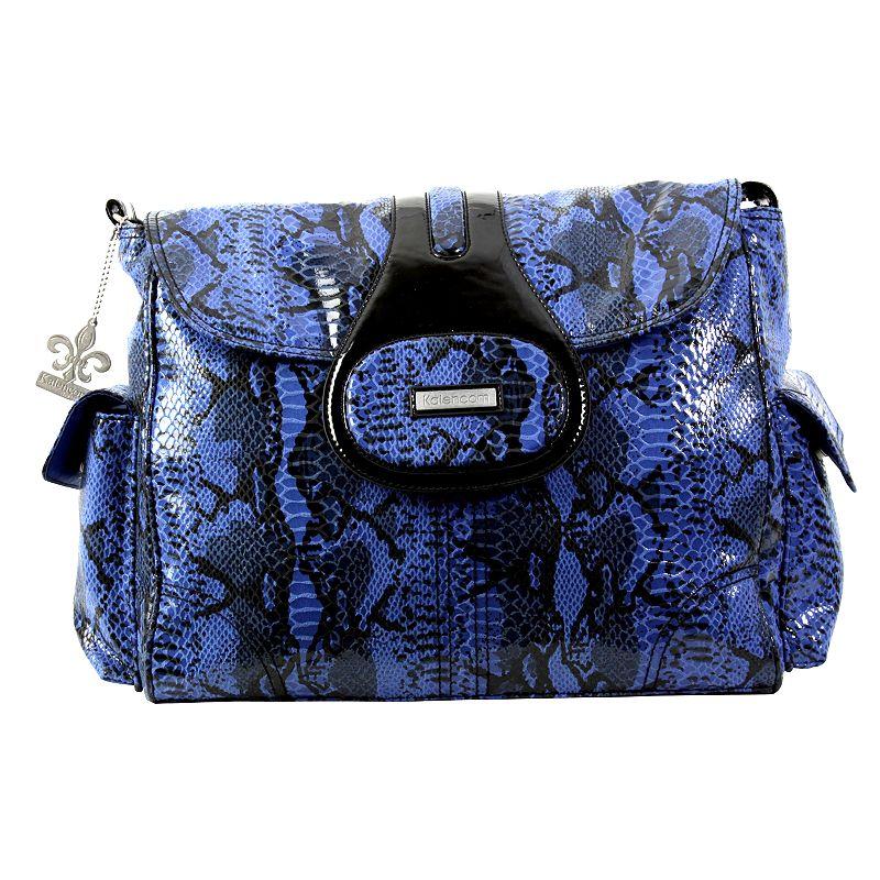Kalencom Elite Python Laminated Diaper Bag - Delph Blue