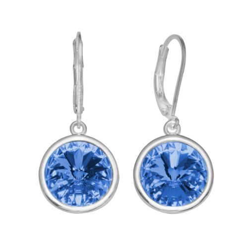 Illuminaire Silver-Plated Crystal Drop Earrings - Made with Swarovski Elements