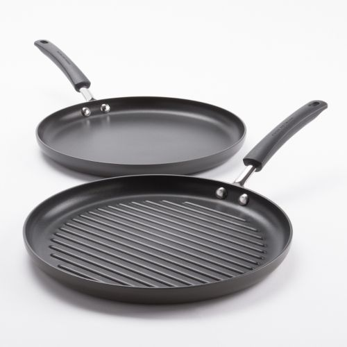 Food Network™ 2-pc. Hard-Anodized Nonstick Dishwasher Safe Grill Pan and Griddle Set
