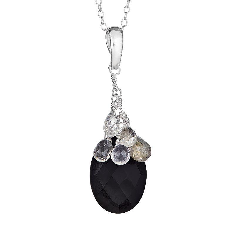 Sterling Silver Gemstone Briolette Pendant