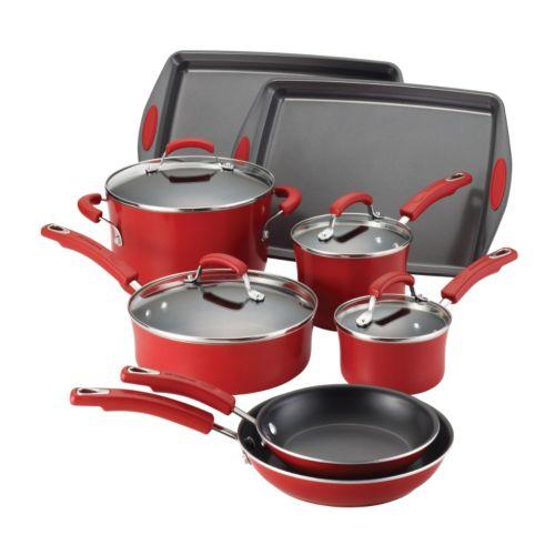 Rachael Ray 12-pc. Nonstick Porcelain Cookware Set