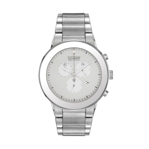 Citizen Eco-Drive Stainless Steel Chronograph Watch - AT2240-51A - Men
