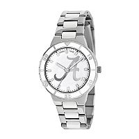 Game Time Pearl Series Alabama Crimson Tide Stainless Steel & White Ceramic Mother-of-Pearl Watch - COL-PEA-ALA2 - Women