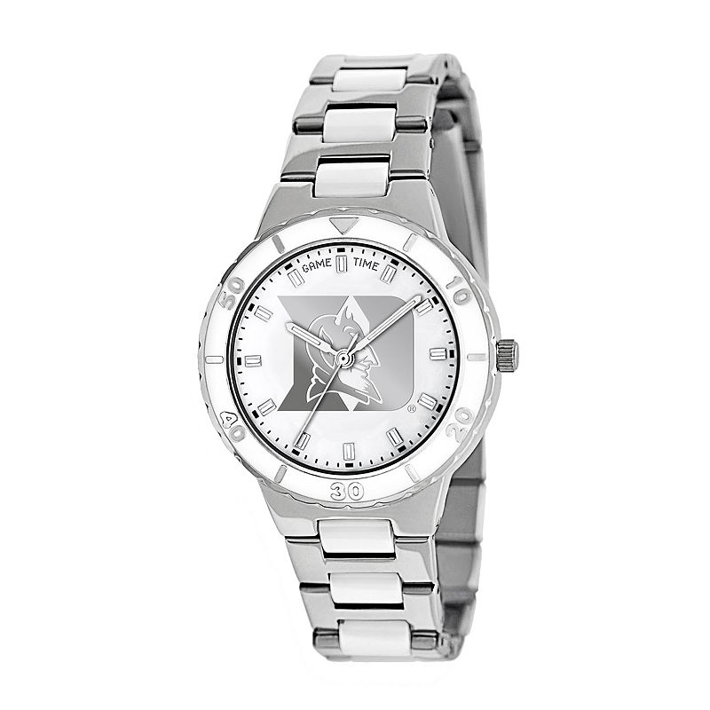 Game Time Pearl Series Duke Blue Devils Stainless Steel and White Ceramic Mother-of-Pearl Watch - COL-PEA-DUK - Women