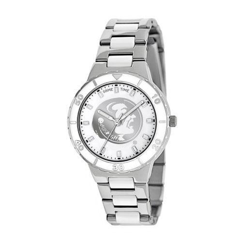 Game Time Pearl Series Florida State Seminoles Stainless Steel and White Ceramic Mother-of-Pearl Watch - COL-PEA-FSU - Women
