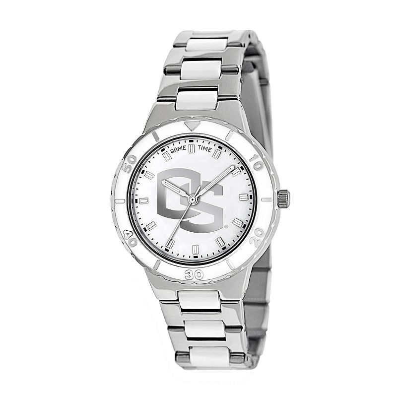 Game Time Pearl Series Oregon State Beavers Stainless Steel and White Ceramic Mother-of-Pearl Watch - COL-PEA-ORS - Women